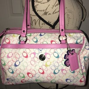 Multi-Pink Coach Purse